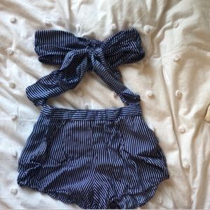 Two piece stripe set from BooHoo